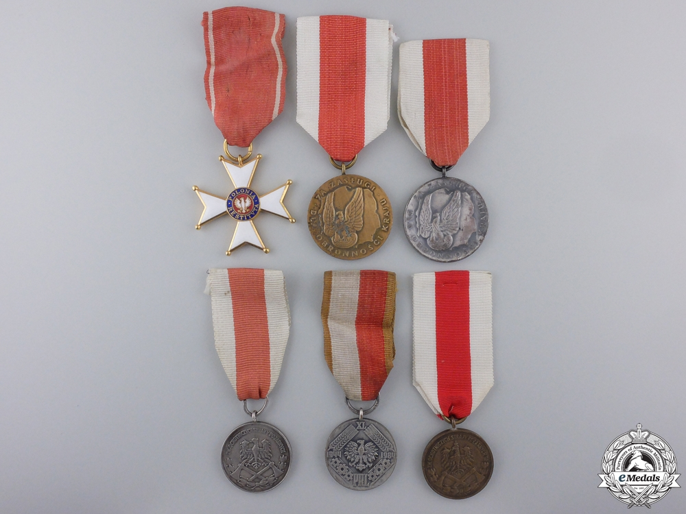 eMedals-Six Polish Medals & Awards