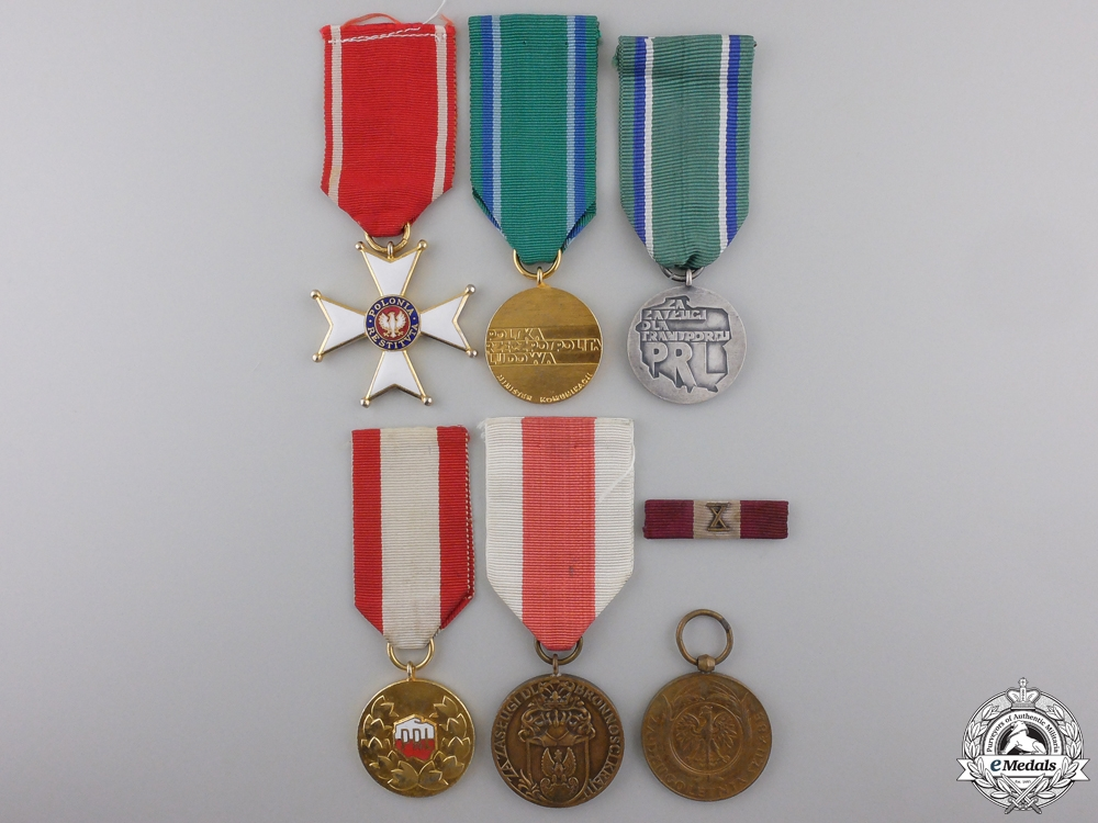 eMedals-Six Polish Orders, Medals, and Awards