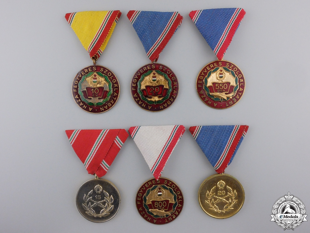 eMedals-Six Republic of Hungarian Medals & Awards