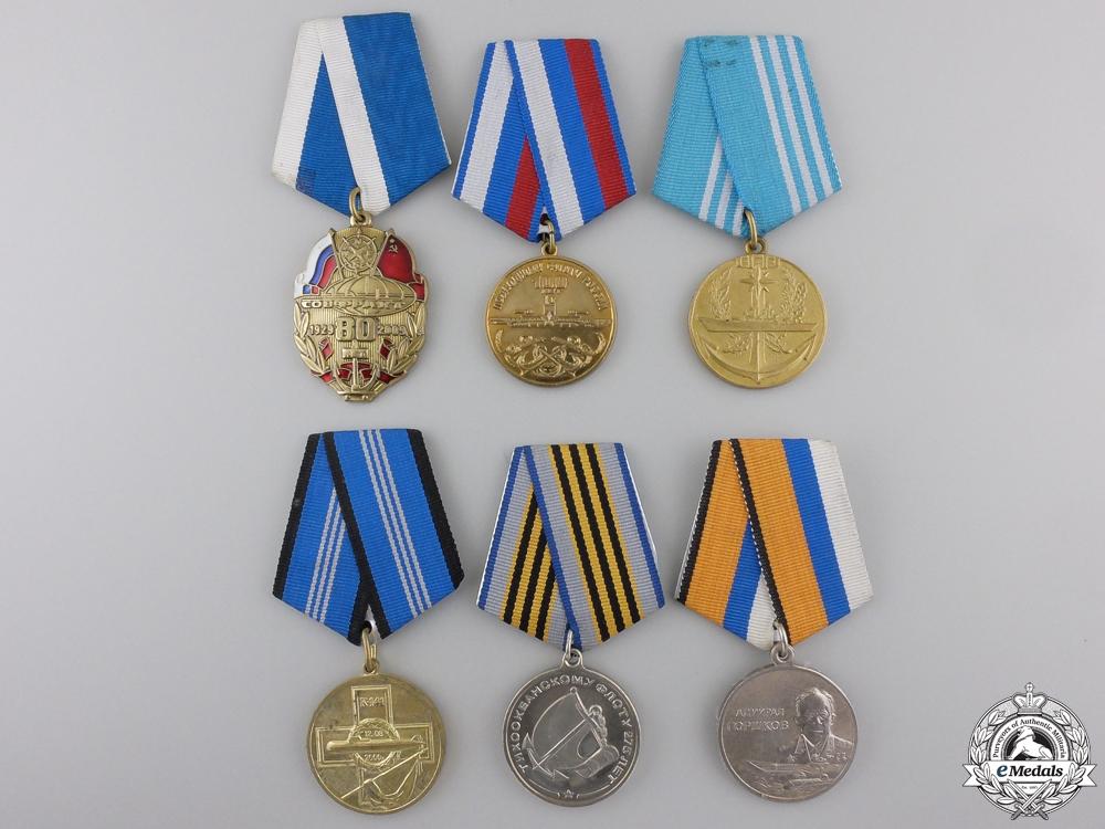eMedals-Six Russian Federation Naval Medals