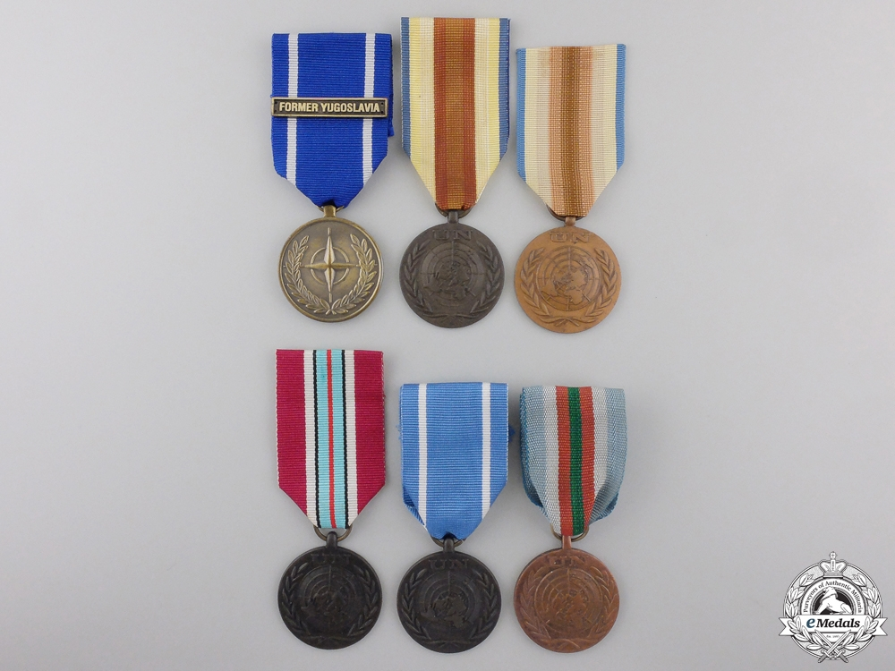 eMedals-Six United Nations & NATO Medals