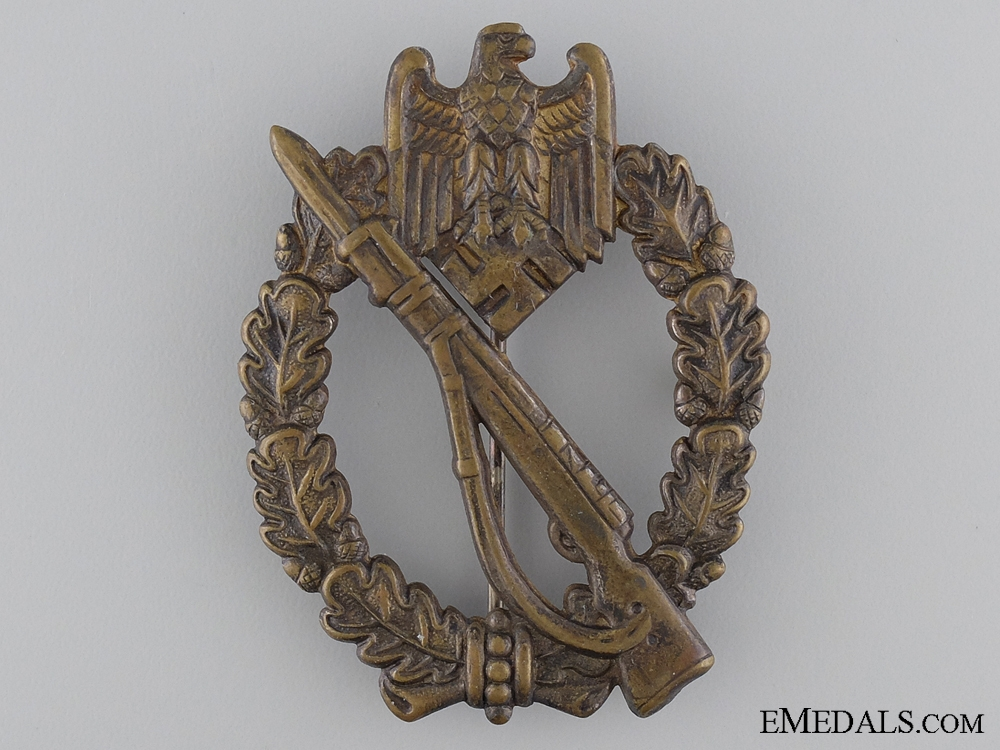 eMedals-Silver Grade Infantry Badge in Tombac; Unmarked