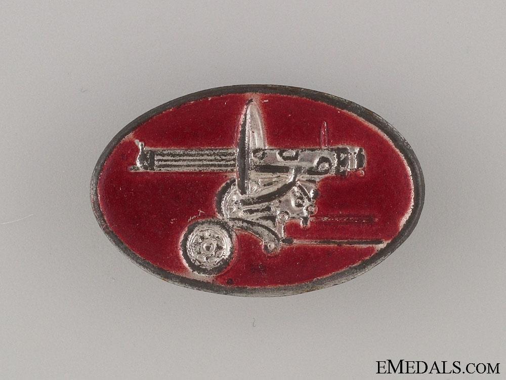 eMedals-Spanish Civil War Communist Machine Gun Badge