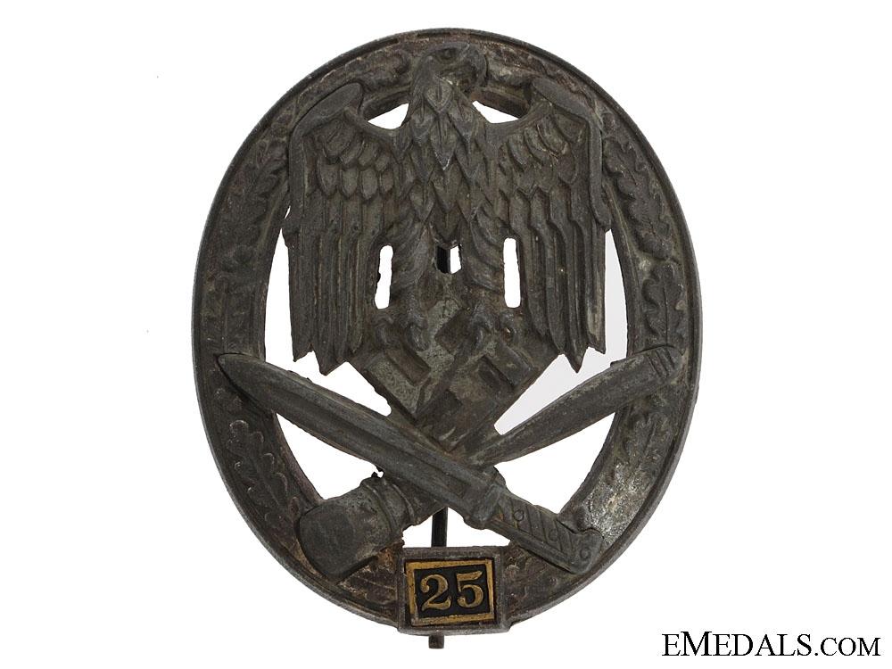 eMedals-Special Grade Assault Badge - Twenty Five