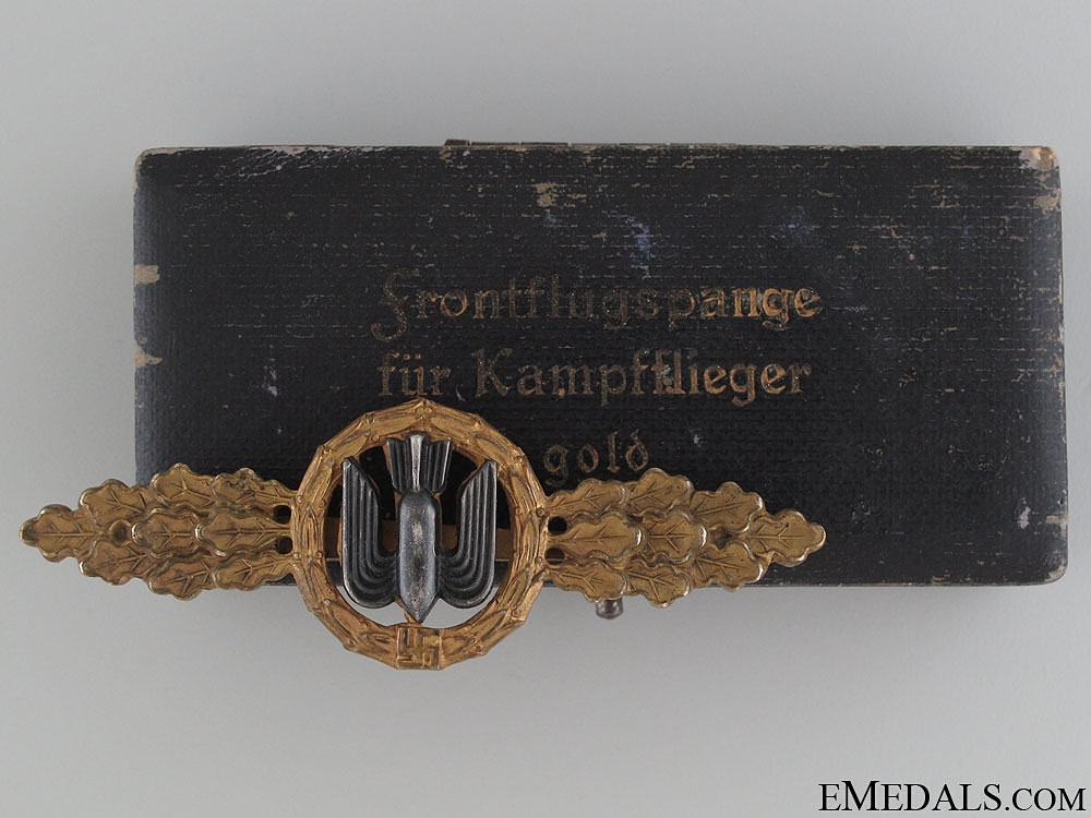 eMedals-Squadron Clasp for Bomber Pilots - Gold