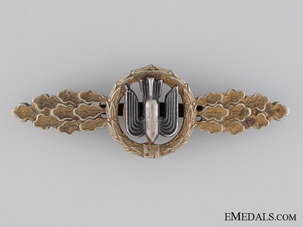 eMedals-Squadron Clasp for Bomber Pilots; Gold Grade