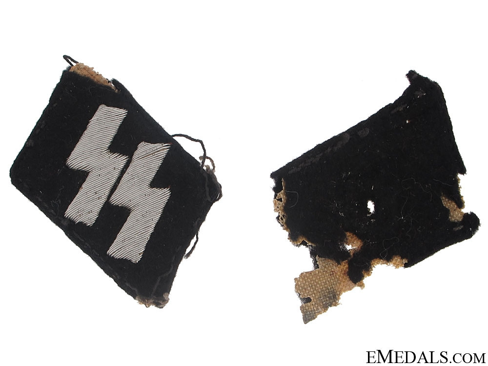 eMedals-SS ( Schutzstaffel ) Officer runic Collar Tabs