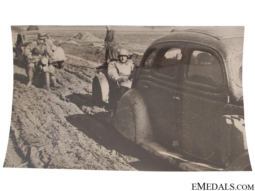 eMedals-SS Column in Balkans, April 1941 Photograph