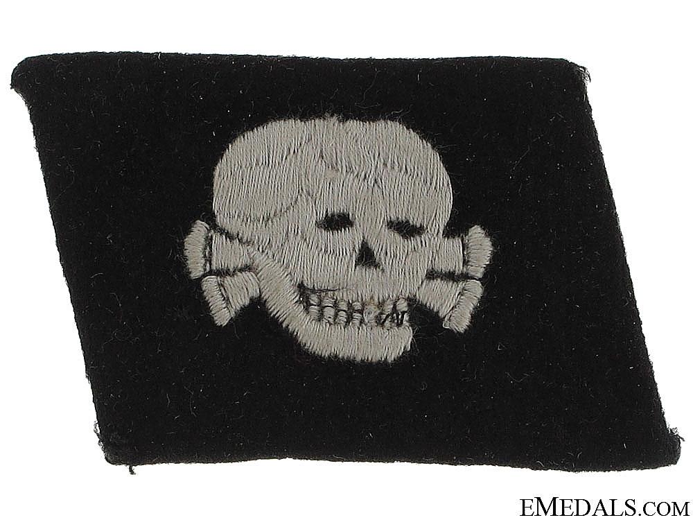 eMedals-SS EM/NCOs Totenkopf Collar Tab - c.1939-42