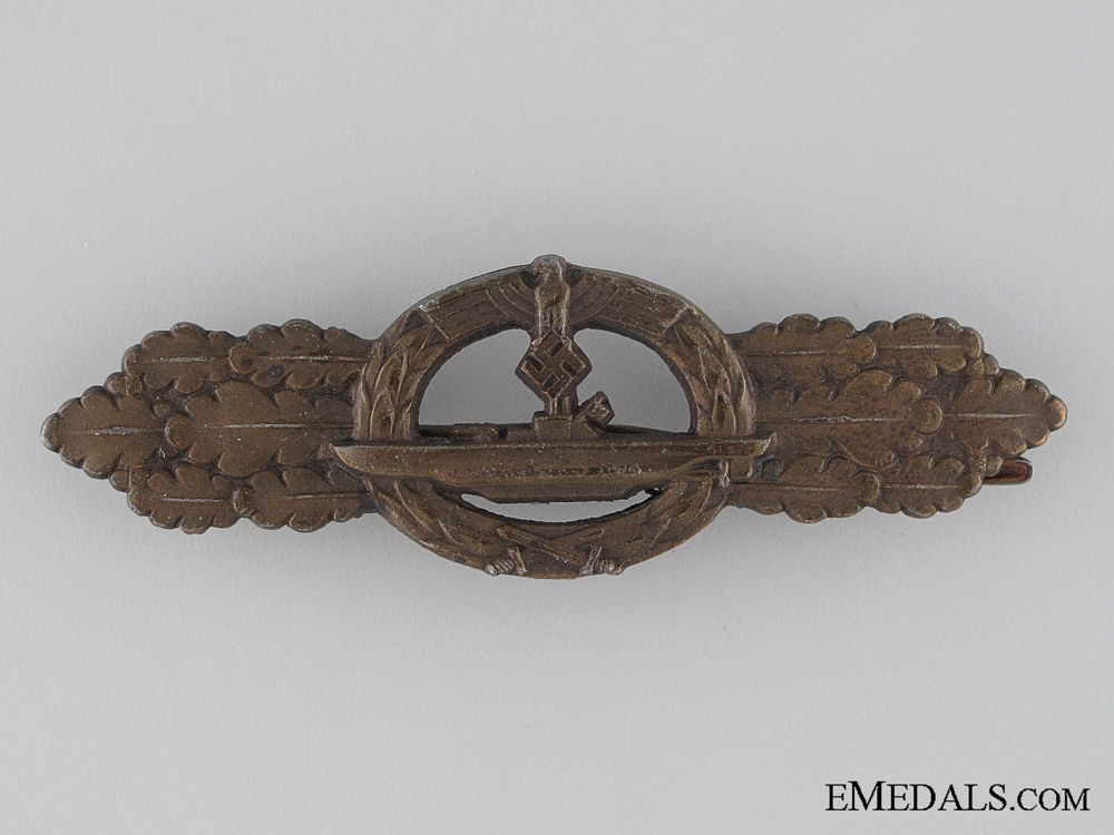 eMedals-Submarine Clasp; Bronze Grade marked Schwerin