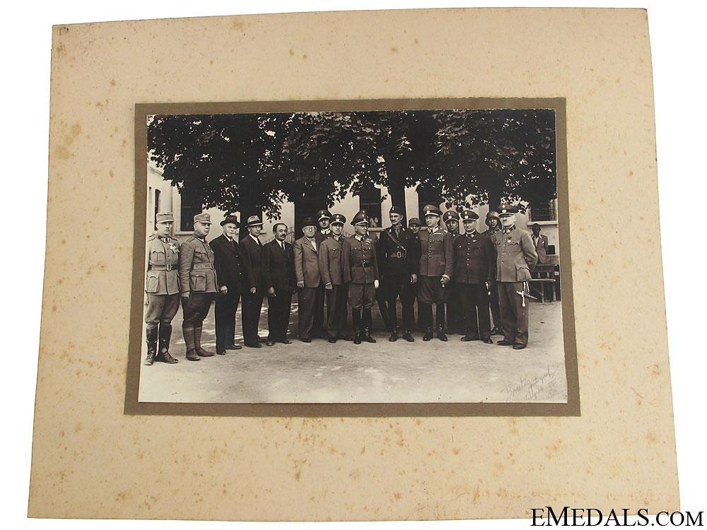 eMedals-Superb Photo of Domobrani Leaders & Ustasha Officer