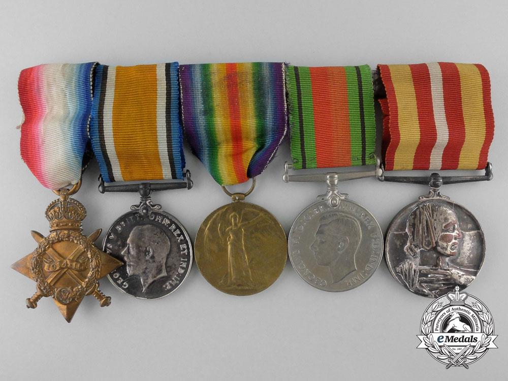 eMedals-A First & Second War Group  to Reuben Victor Barnard; Royal Field Artillery/Royal Artillery