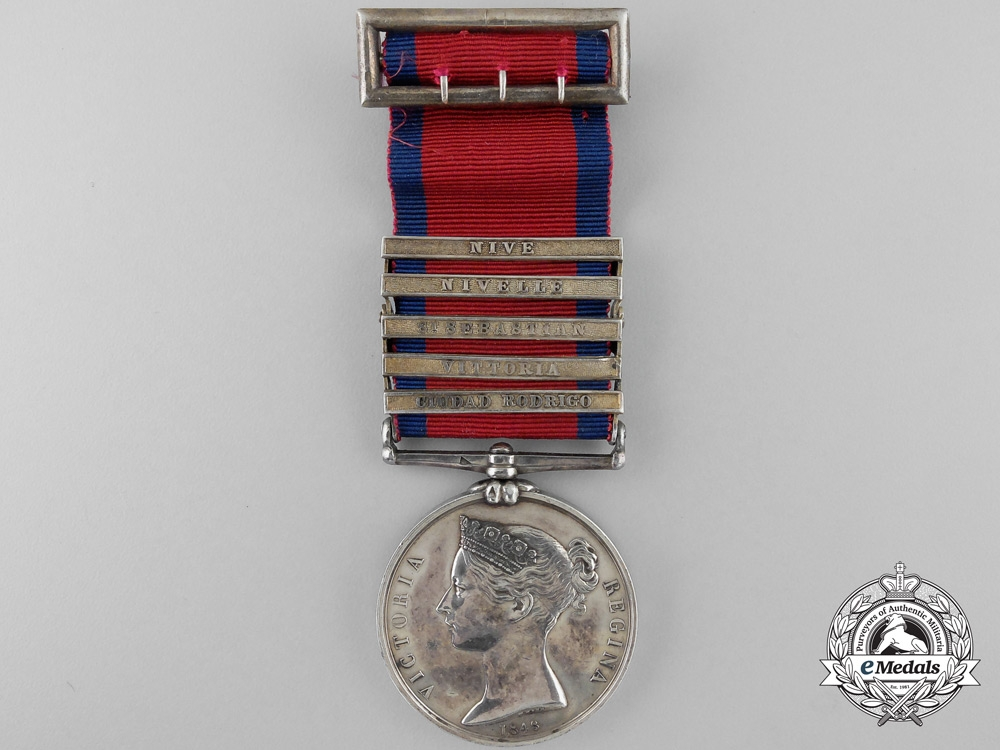 eMedals-A Military General Service Medal to Baron George Wichmann; King's German Legion