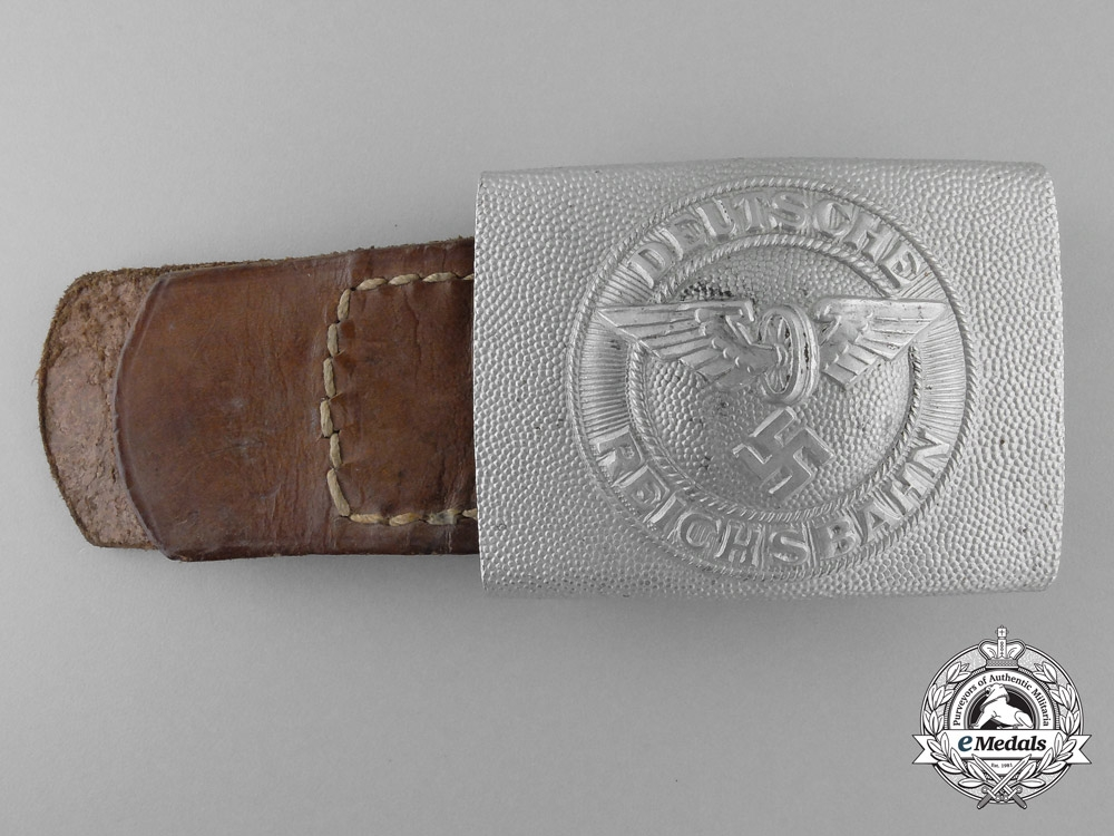 eMedals-An Unusual 1933-1945 Pattern Railway Police/Defence Enlisted Man's Belt Buckle
