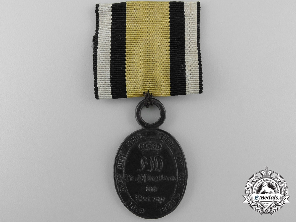 eMedals-An 1815 Prussian War Merit Medal; Non-Combatant Version