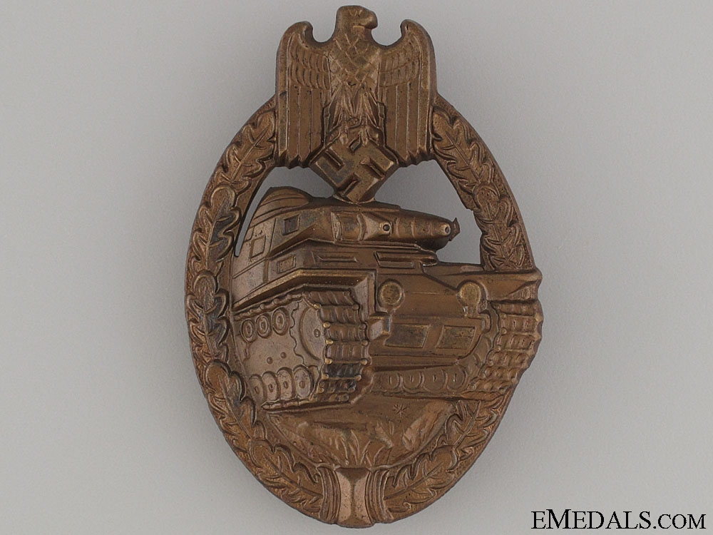 eMedals-Tank Assault Badge – Bronze & Mint