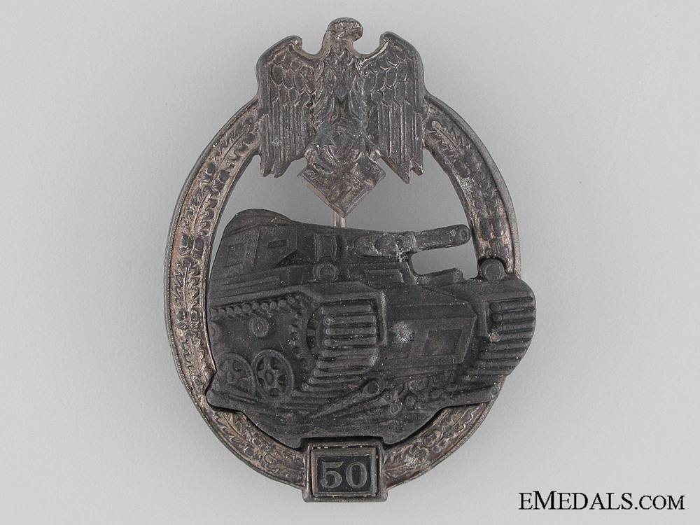"""eMedals-Tank Badge """"50"""""""