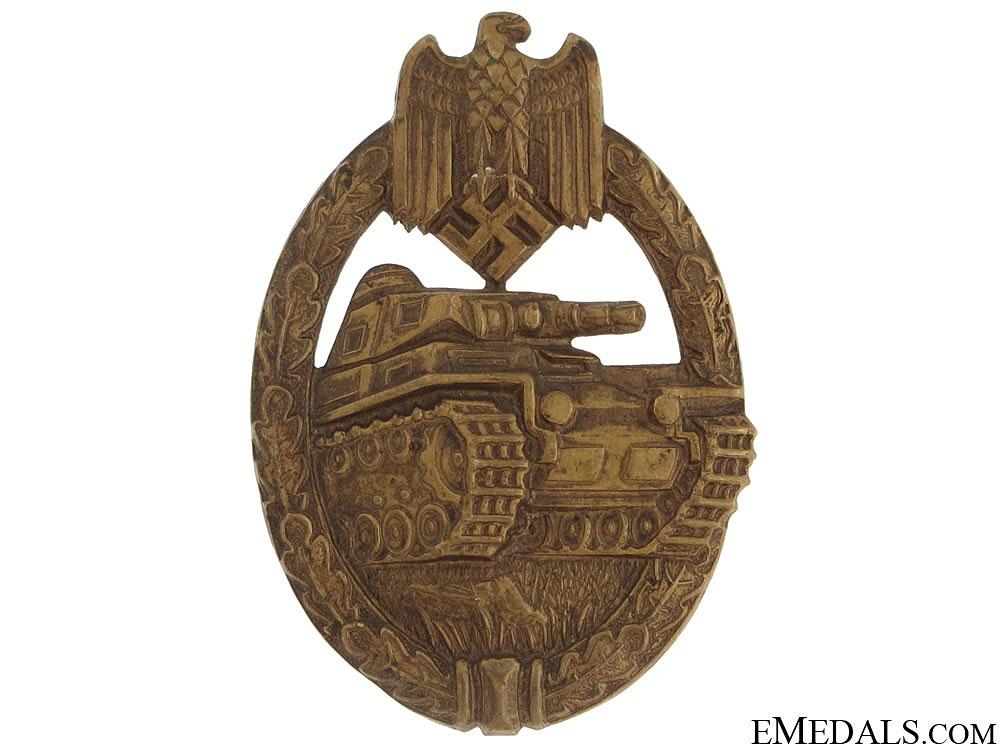eMedals-Tank Badge – Bronze Grade & Tombac