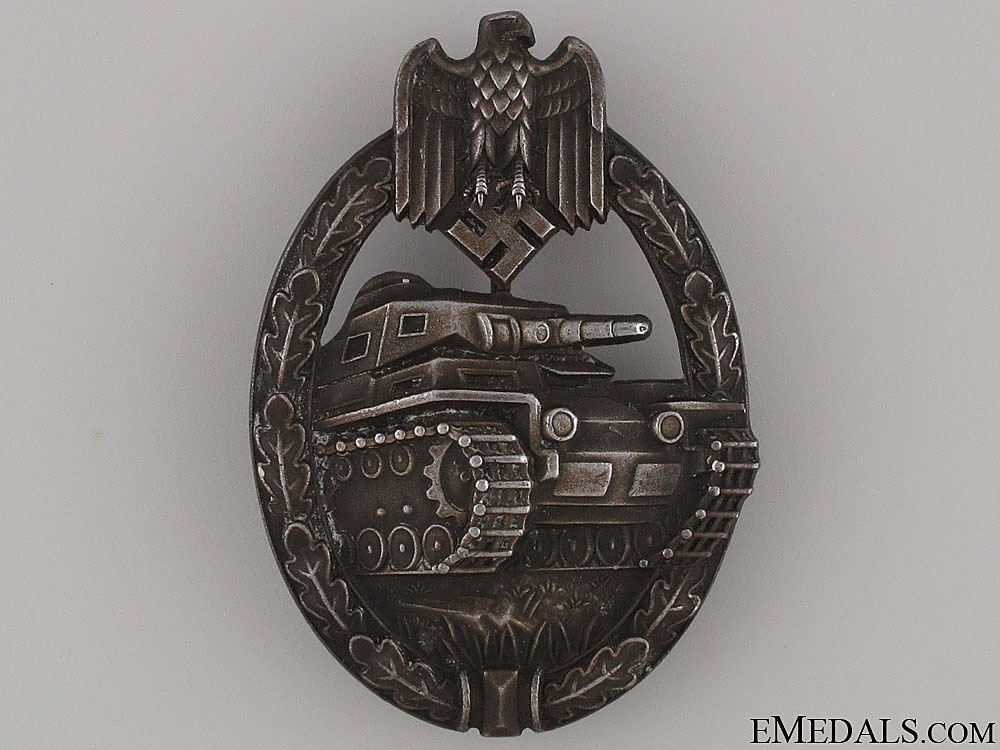 eMedals-Tank Badge - Bronze Grade