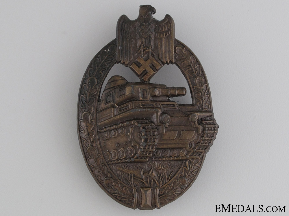 eMedals-Tank Badge - Bronze Grade by A.S.