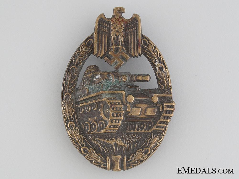 eMedals-An Early War Bronze Grade Tank Badge by Karl Wurster