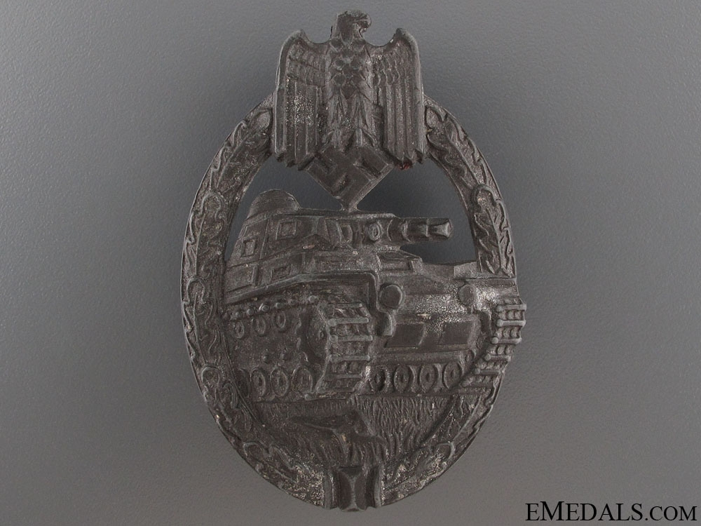eMedals-Tank Badge - Silver Grade by Karl Wurster K.G.