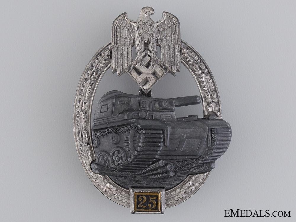 eMedals-Tank Badge Grade II; Silver Grade by JFS