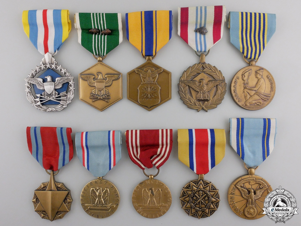 eMedals-Ten  American Armed Forces Medals and Awards