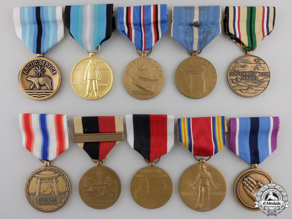 eMedals-Ten American Military Service Medals
