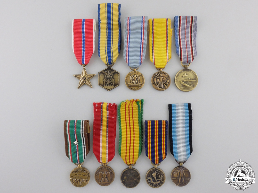 eMedals-Ten American Miniature Medals and Awards