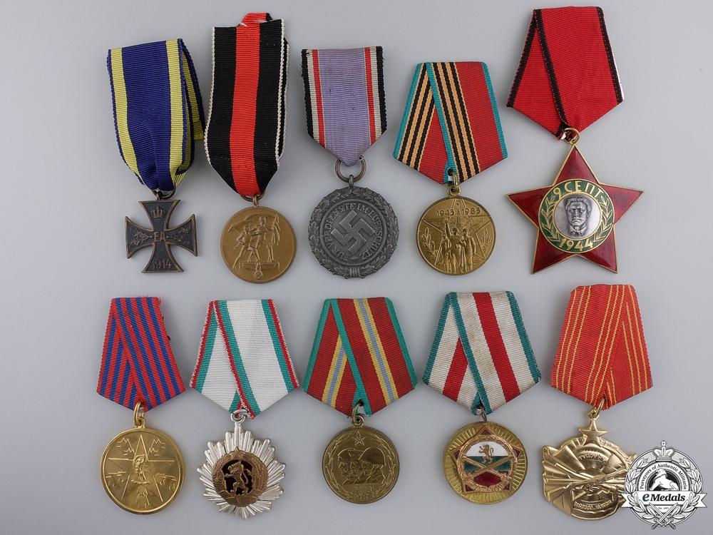eMedals-Ten Europeans Medals, Awards, & Badges