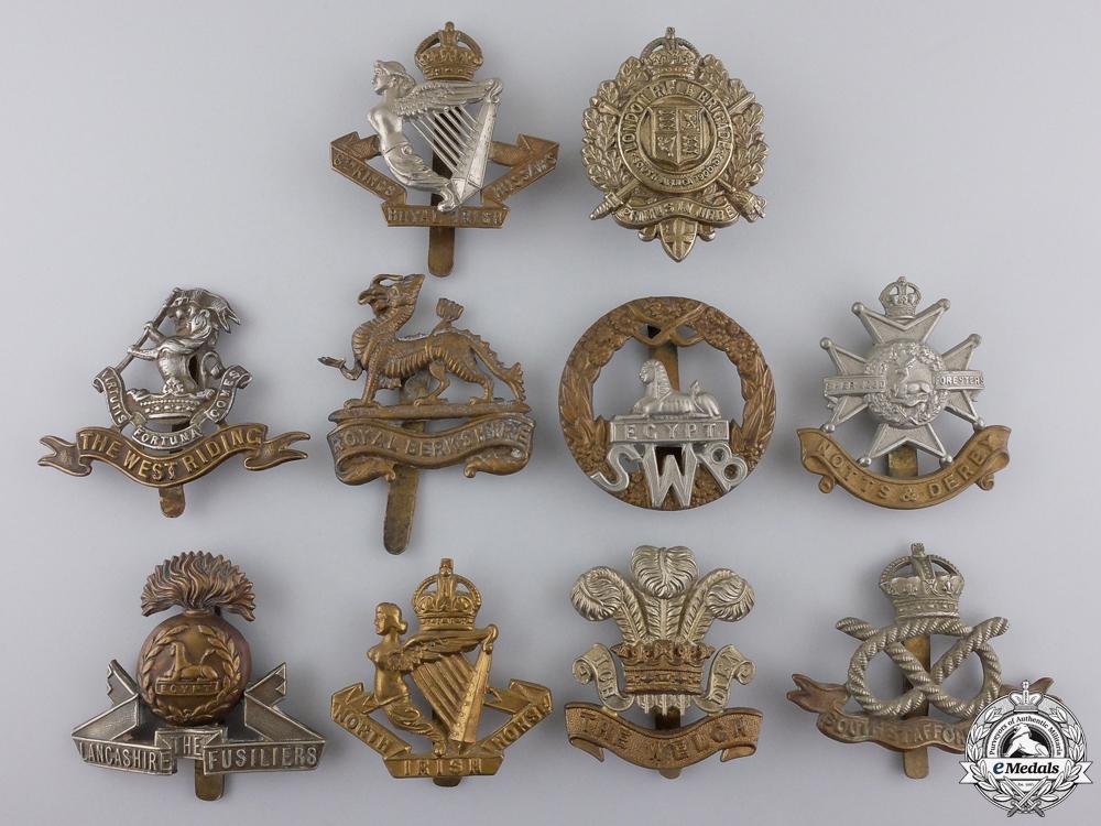 eMedals-Ten First War British Cap Badges