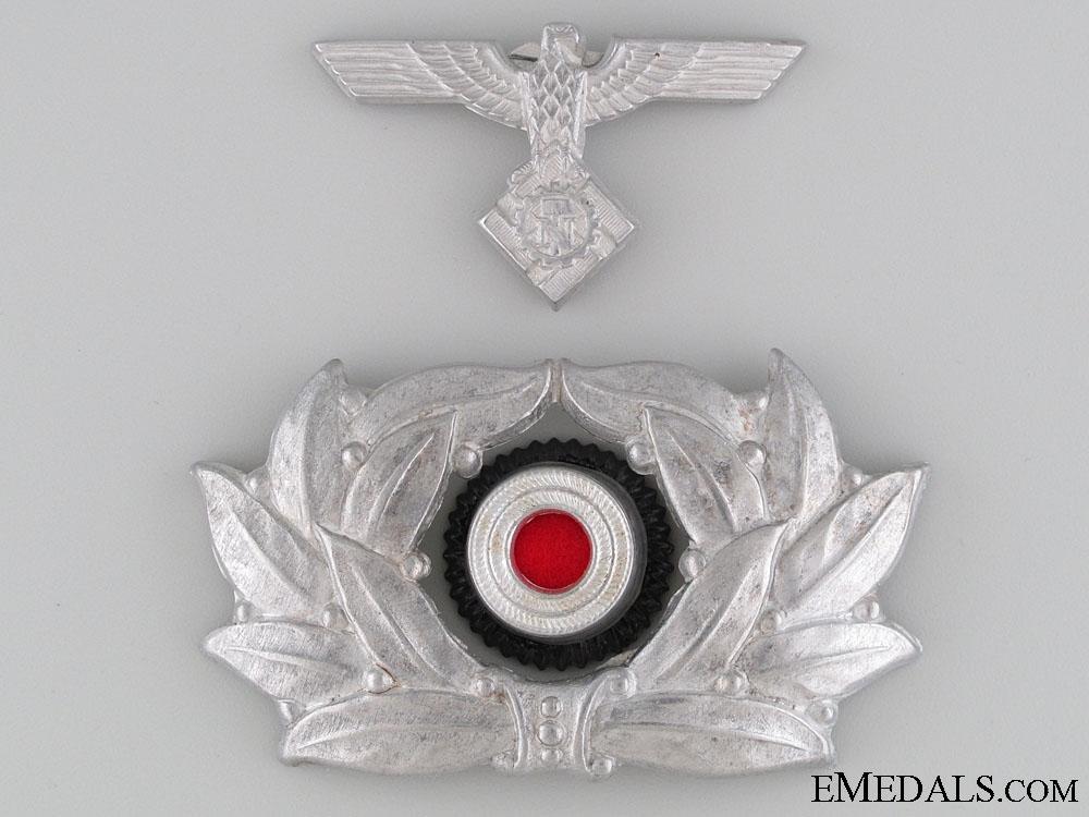 eMedals-TeNo NCO's Visor Wreath & Eagle