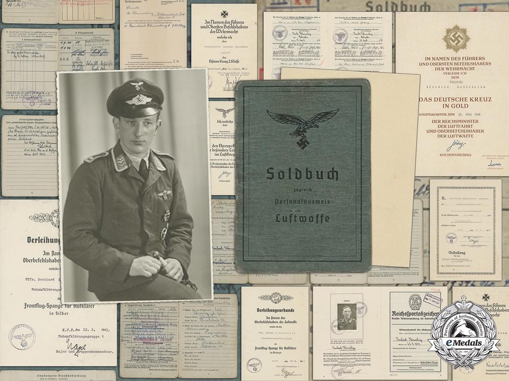 eMedals-The Award Documents of Luftwaffe DKG Recipient Feldwebel Kämmerling