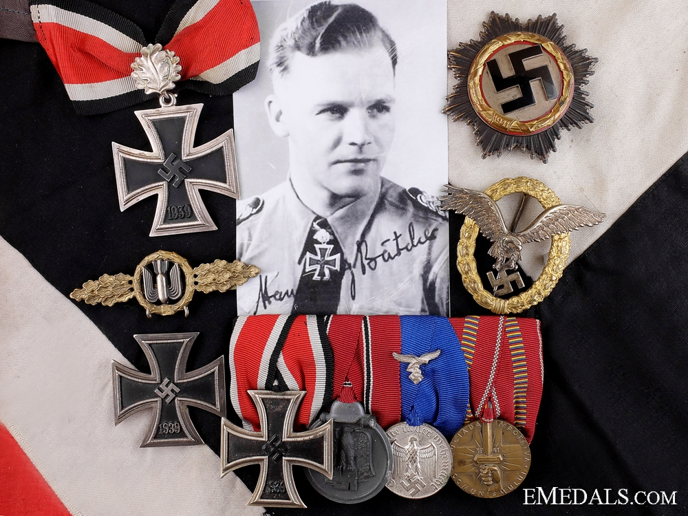 eMedals-The Awards of Hansgeorg Bätcher; Leading Luftwaffe Bomber Ace