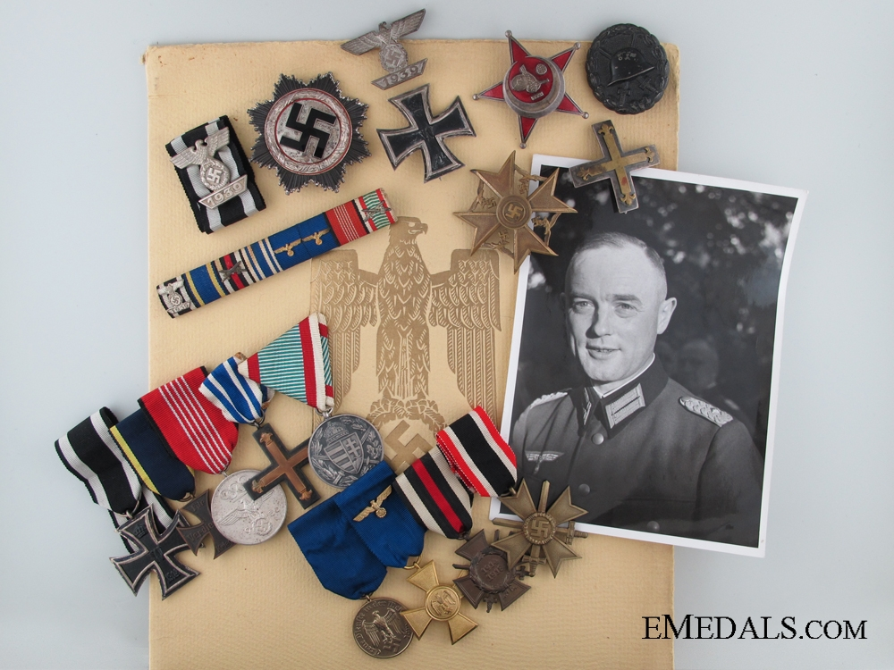 eMedals-The Awards of Major-General Rolf Menneking; German Cross in Silver Winner