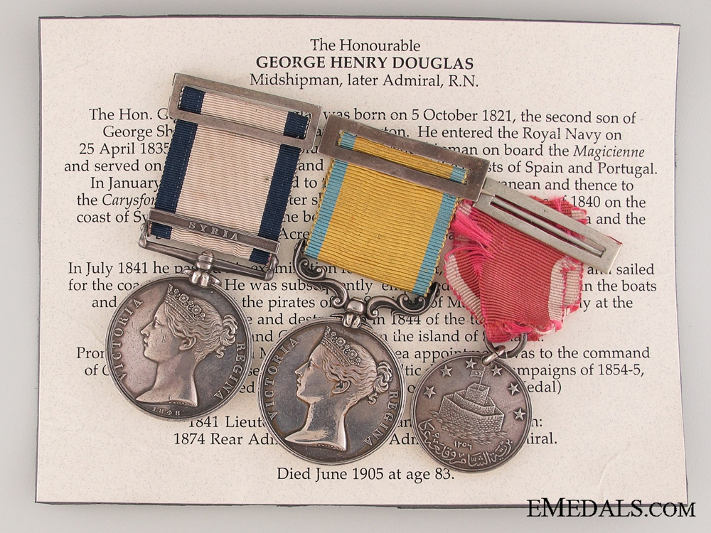 eMedals-The Awards of The Honourable George Henry Douglas