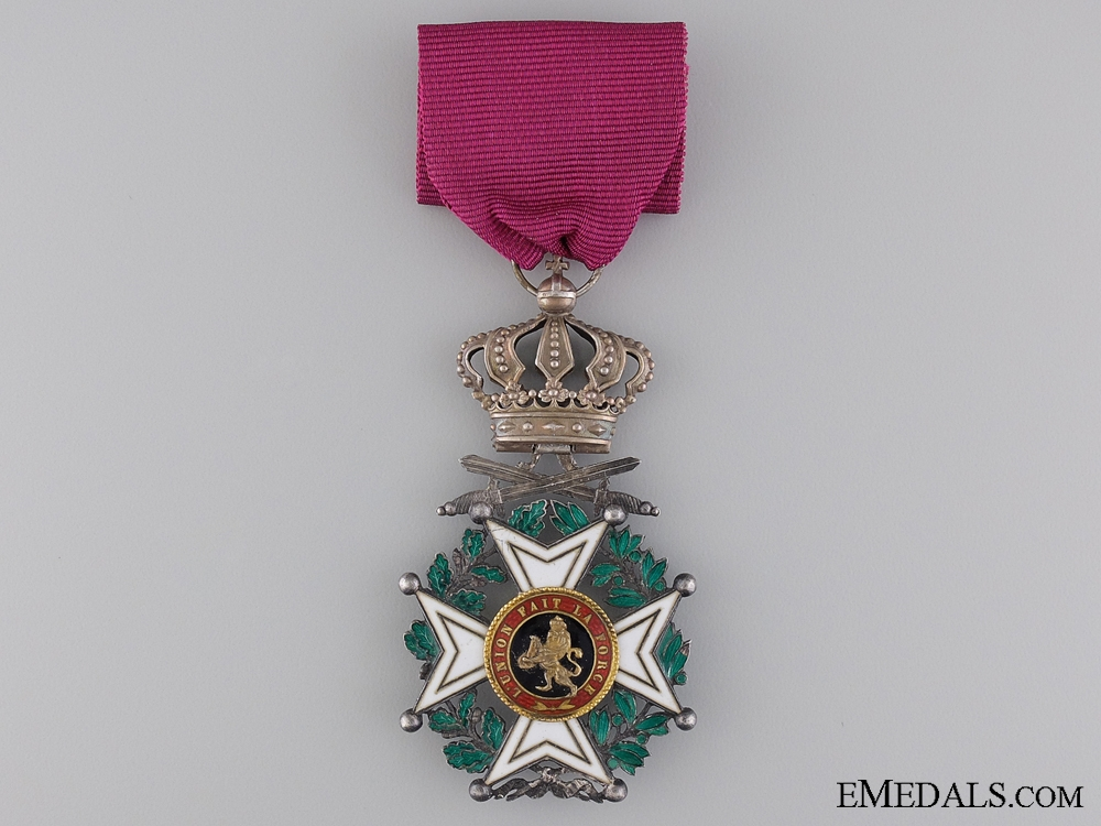 eMedals-The Belgian Order of Leopold; Military Division