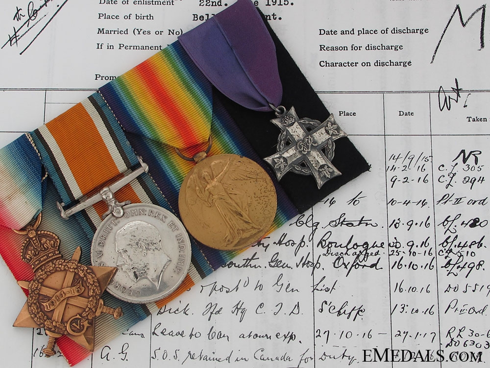 eMedals-The First War Memorial Group of Captain Daw