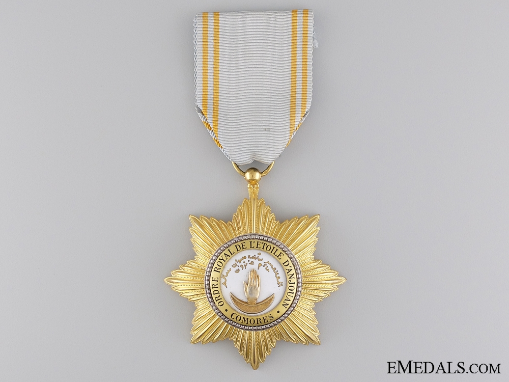 eMedals-The French Colonial Royal Order of the Star of Anjouan; Knight