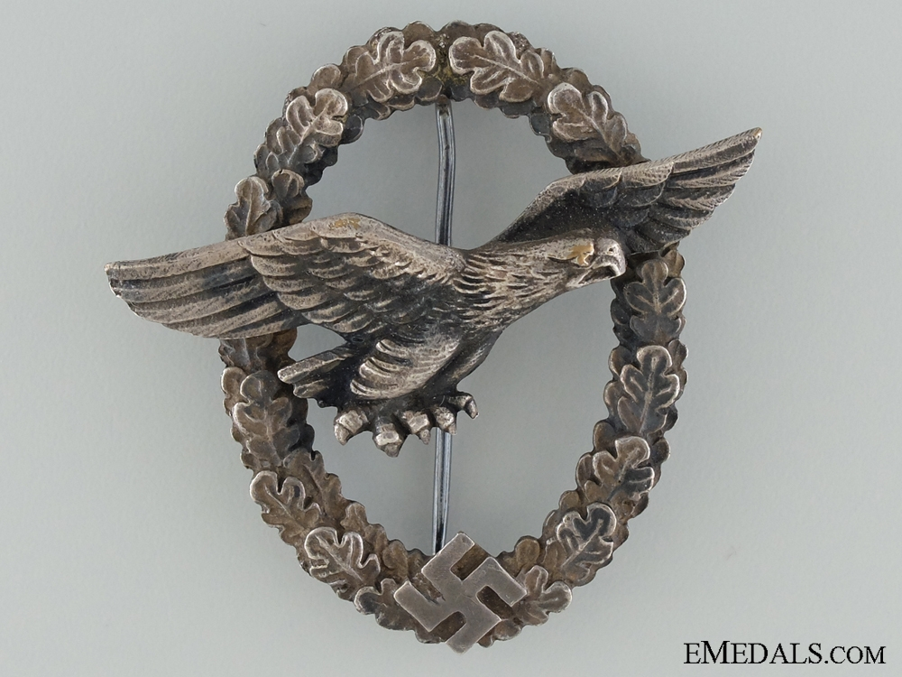 eMedals-The Glider Pilot Badge; Rare Large Eagle Version