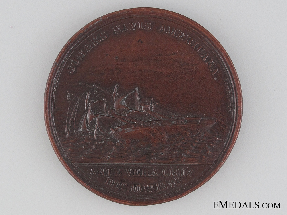 eMedals-The Loss of the Brig Somers Table Medal 1846
