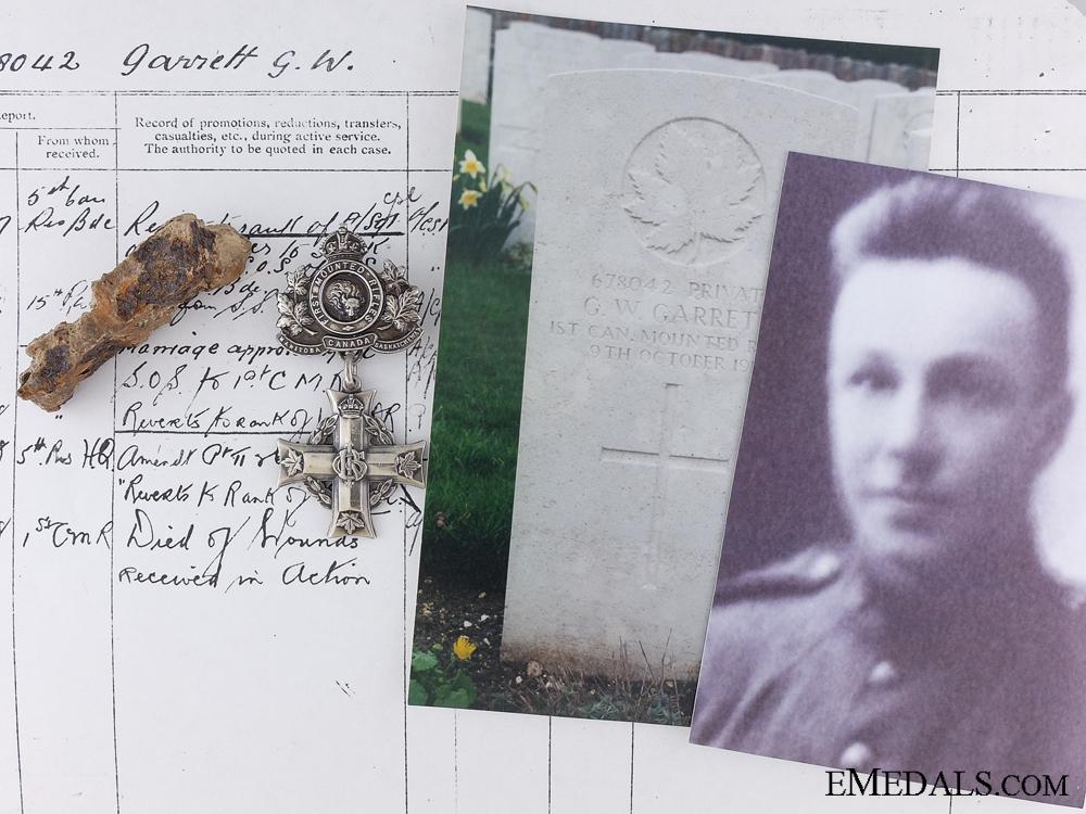 eMedals-The Memorial Cross of Pte. Garrett; 1st Canadian Mounted Rifles