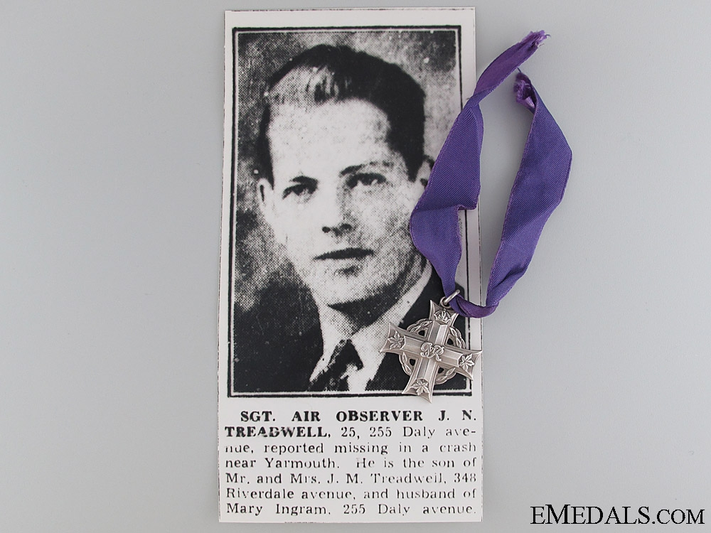 eMedals-A Memorial Group to Pilot Officer Treadwell RCAF
