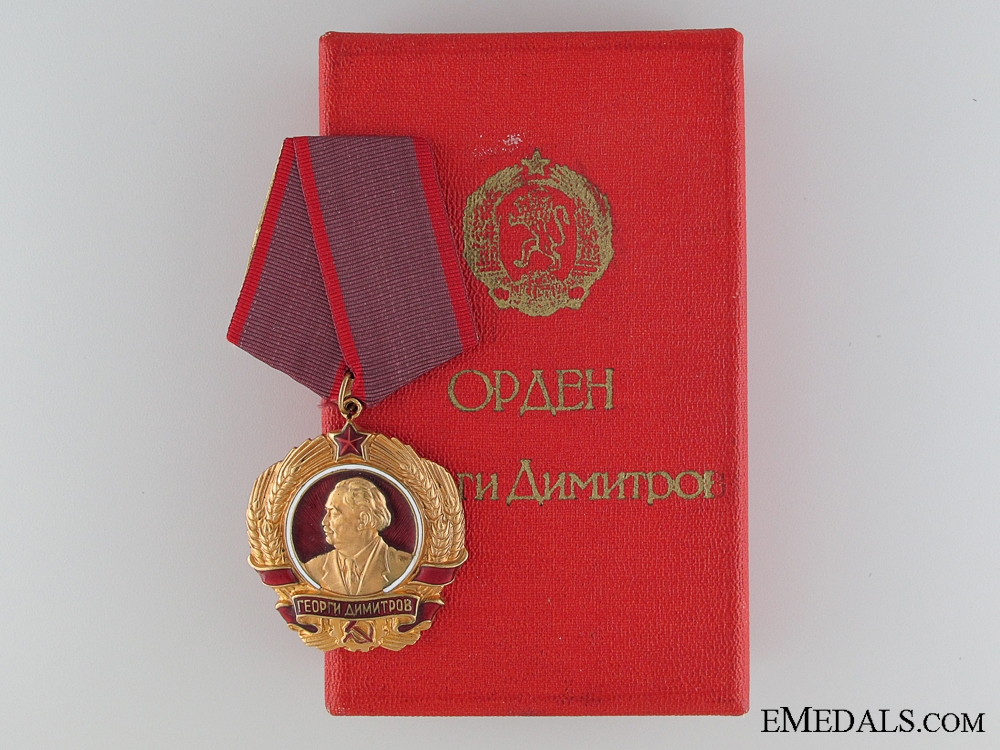 eMedals-The Order of Georgi Dimitrov in Gold