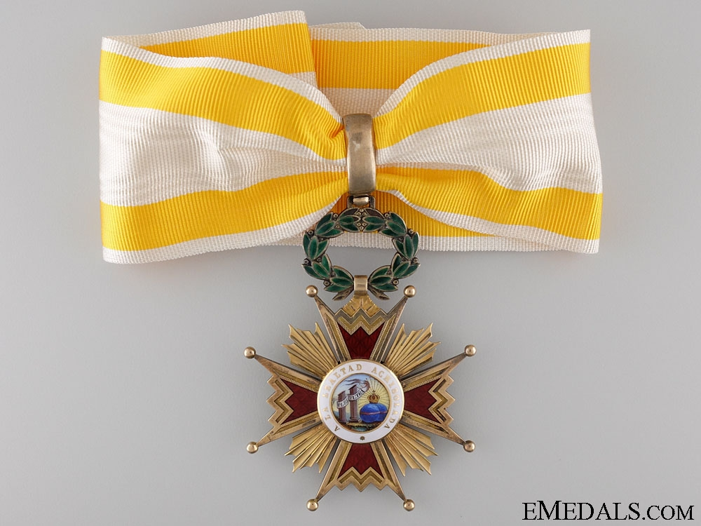 eMedals-The Order of Isabella the Catholic; Commanders Cross in Gold