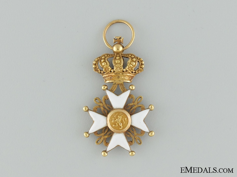 eMedals-The Order of Netherlands Lion in Gold