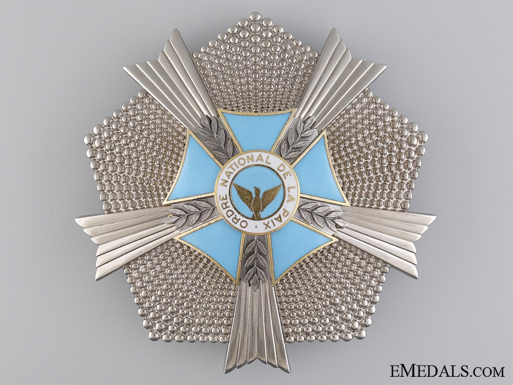 eMedals-The Order of Peace of Rwanda; Grand Officer Breast Star