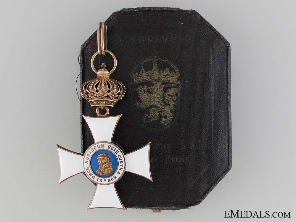 eMedals-A Hessen Order of Philip; First Class with Crown & Case