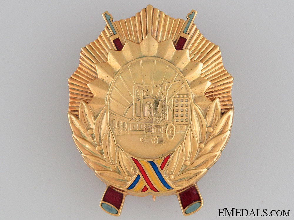 eMedals-The Order of Socialist Fatherland in Gold